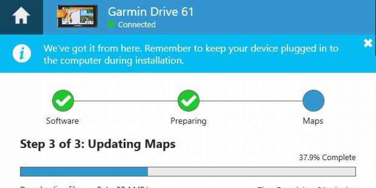 How do I update my Garmin GPS device