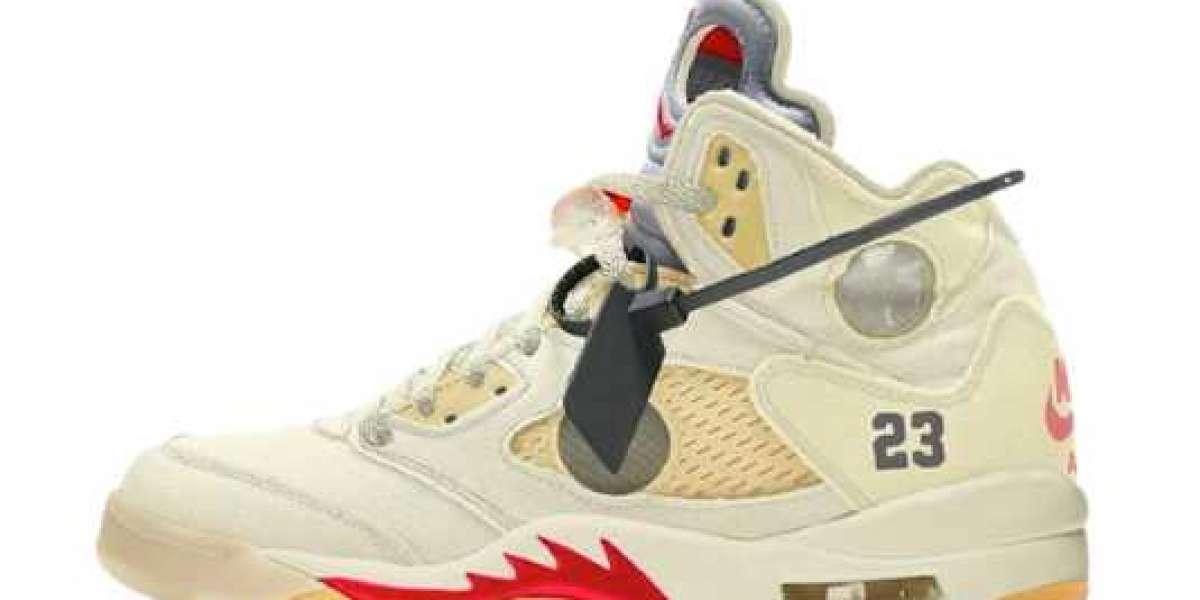 2020 CT8480-105 OFF-WHITE x Air Jordan 5 Basketball Shoes