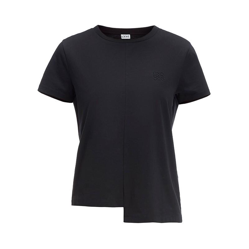 Loewe Asymmetric Anagram T-shirt Black Outlet Loewe Cheap Sale Store